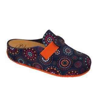Scholl LARETH modře vícebarevná - domácí zdravotní obuv