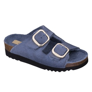 Scholl ILARY FLUFFY - modré zdravotní pantofle