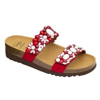 Scholl ALICIA 2 STRAPS - červené zdravotní pantofle