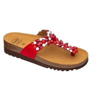 Scholl ALICIA FLIP-FLOP - červené zdravotní pantofle