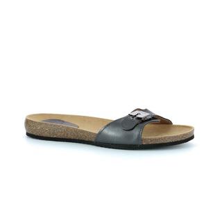 Scholl BAHAMAIS - kovově šedé zdravotní pantofle