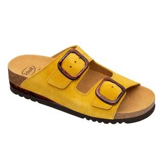 Scholl ILARY 2 STRAPS - žluté zdravotní pantofle