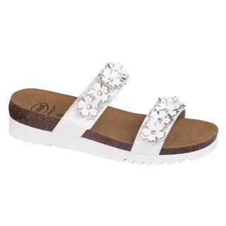 Scholl LETIZIA bílé zdravotní pantofle