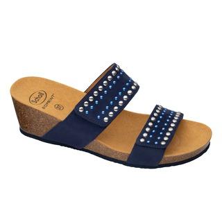 Scholl MICHELLE 2 STRAPS - tmavě modré zdravotní pantofle