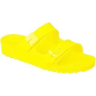 Scholl SHO BAHIA neonově žluté zdravotní pantofle