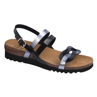 Scholl SOFIA SANDAL černo cínové zdravotní sandály