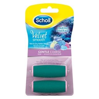 Scholl Velvet Smooth GENTLE COARSE - náhradní hlavice jemně drsná s mořskými minerály (2ks)