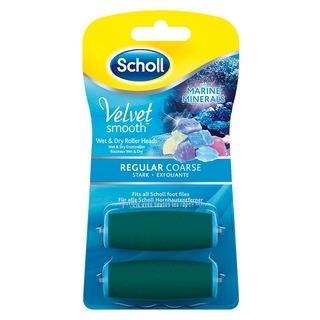 Scholl Velvet Smooth REGULAR COARSE - náhradní hlavice středně drsná s mořskými minerály (2ks)