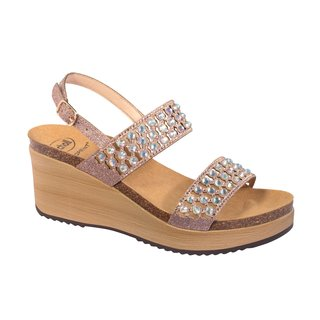 Scholl CASSIOPEA růžovězlaté zdravotní sandály