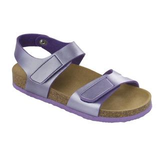 Scholl DINDER KID fialové - dětské zdravotní pantofle s páskem
