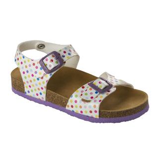 Scholl SMYLEY KID bílé/barevné - dětské zdravotní pantofle s páskem