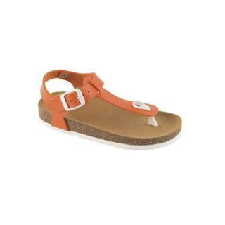 Scholl BOA VISTA KID oranžové - dětské zdravotní pantofle s páskem