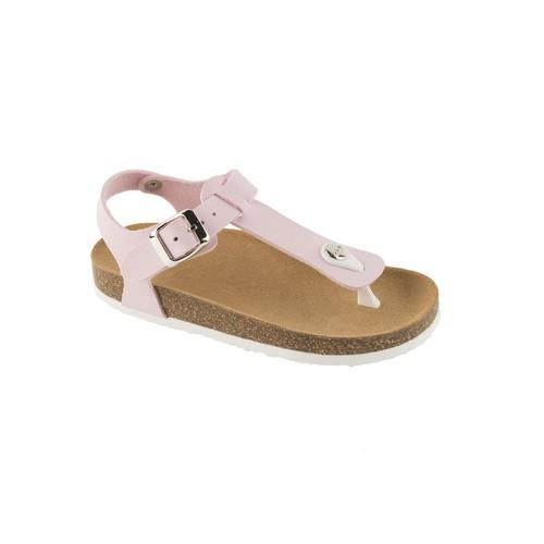 BOA VISTA KID růžové - dětské zdravotní pantofle s páskem - EU 27