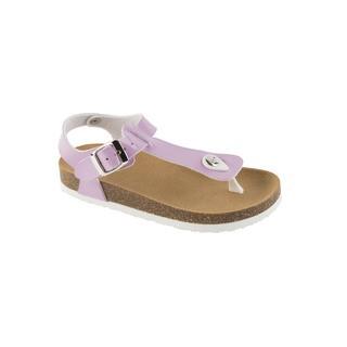Scholl BOA VISTA KID fialové - dětské zdravotní pantofle s páskem