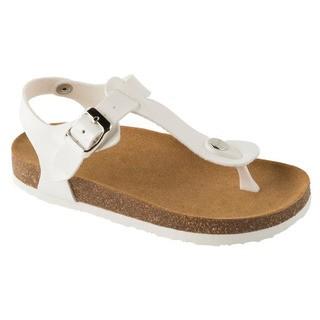 Scholl BOA VISTA KID bílé - dětské zdravotní pantofle s páskem
