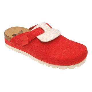 Scholl AMERICA červená / béžová domácí obuv