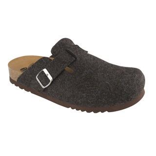Scholl AMIATA MAN tmavě hnědá domácí zdravotní obuv