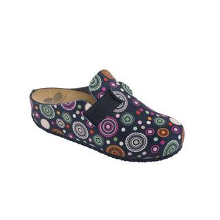 Scholl LARETH modrá / multi modrá domácí obuv