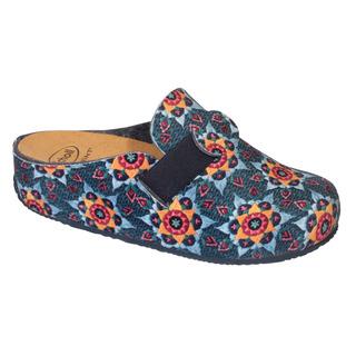 Scholl LARETH modrá / multi domácí obuv (model 2019)