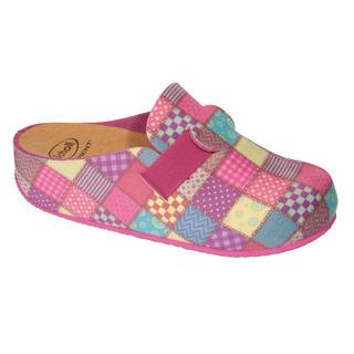 Scholl LARETH vícebarevná - domácí zdravotní obuv