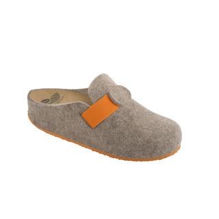 Scholl VARIS béžová / oranžová domácí obuv