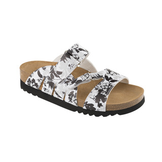 Scholl ALABAMA černé/bílé zdravotní pantofle
