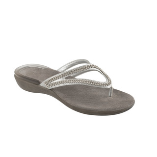 Scholl LULU stříbrné - zdravotní pantofle