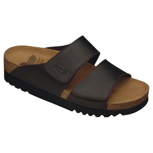 AALIM tmavě hnědé - dámské zdravotní pantofle - EU 41