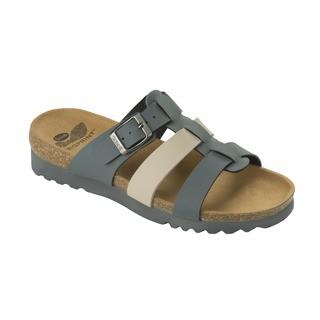 Scholl KALEA tmavě šedé / béžové zdravotní pantofle