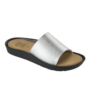 Scholl MEISSA stříbrné - dámské zdravotní pantofle