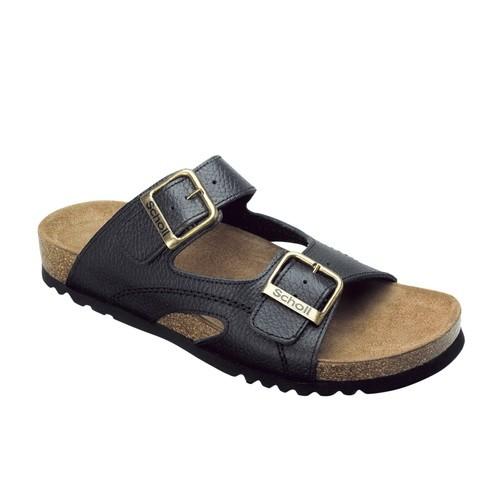 MOLDAVA - černé zdravotní pantofle - EU 43