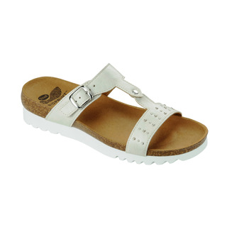 Scholl NYDIA bílé zdravotní pantofle