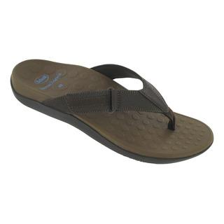 Scholl RYDER - tmavě hnědé plážové žábky