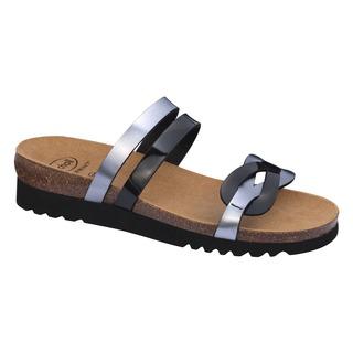Scholl SOFIA černo cínové zdravotní pantofle