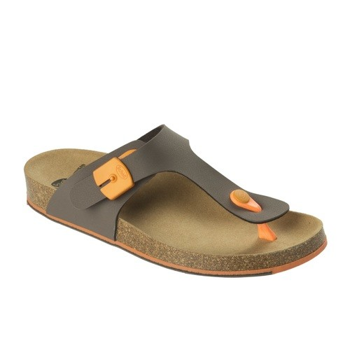 SPIKEY SS 5 - hnědé / oranžové - dámské zdravotní pantofle - EU 41