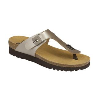 Scholl BOA VISTA UP platinové zdravotní pantofle