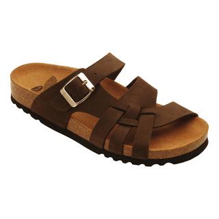 Scholl CARSOL tmavě hnědé - zdravotní pantofle