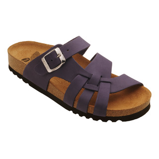 Scholl CARSOL tmavě purpurové - zdravotní pantofle