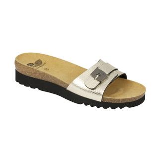 Scholl GINNI platinové - zdravotní pantofle