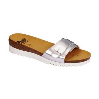 Scholl GINNI stříbrné zdravotní pantofle