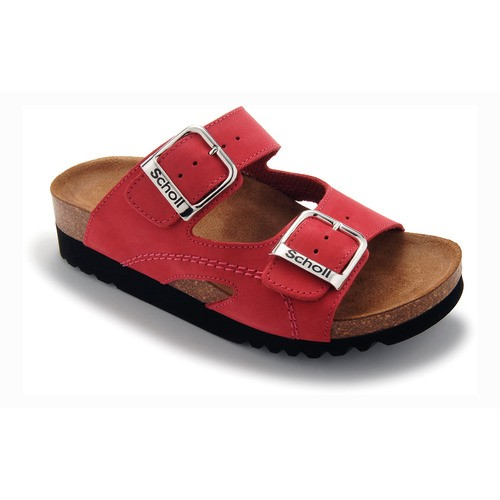 MOLDAVA WEDGE - červené zdravotní pantofle - EU 35