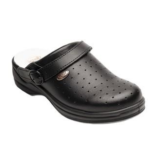 Scholl NEW BONUS Punched - černé pracovní pantofle