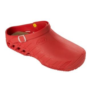 Scholl CLOG EVO - červená pracovní obuv