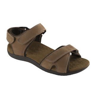Scholl BARWON tmavě hnědé - pánské zdravotní sandály