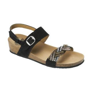 Scholl EVELYNE SANDAL - černé zdravotní sandály