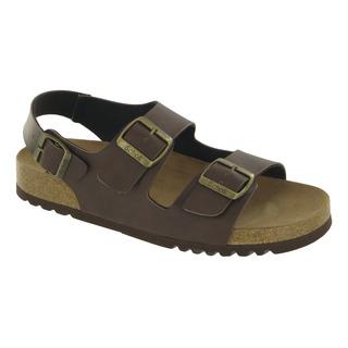 Scholl TYLER tmavě hnědé - pánské zdravotní sandály