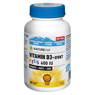 Swiss NatureVia Vitamin D3 - efekt Kids (60 tablet)
