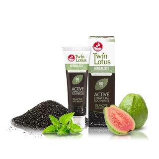 Twin Lotus Active Charcoal 150g - bylinná zubní pasta s aktivním kokosovým uhlím