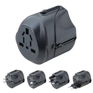 Vivanco 30465 - kompaktní univerzální cestovní adaptér (EU, USA, Asie)