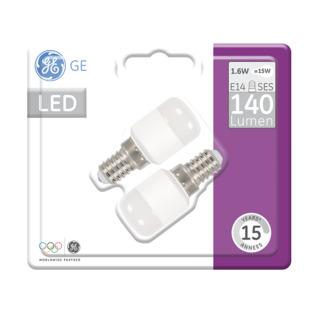 GE lighting LED žárovka E14, 1,6W, 2ks - teplé bílé světlo